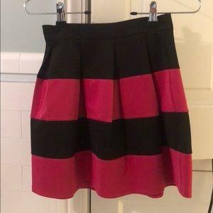 Black and pink mini skirt